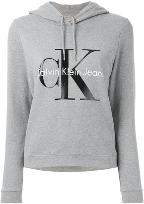 Calvin Klein Jeans logo print hoodie $112.67 thestylecure.com