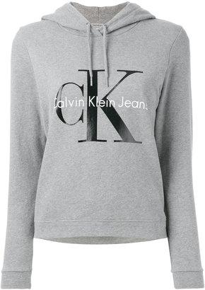 Calvin Klein Jeans logo print hoodie $108.75 thestylecure.com