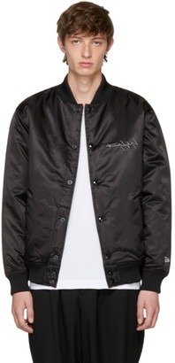 Yohji Yamamoto Black New Era Edition Bomber Jacket $1,000 thestylecure.com