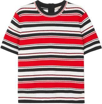 Marc Jacobs (マーク ジェイコブス) - Marc Jacobs ストライプ コットン混ジャージー Tシャツ