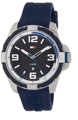 Tommy Hilfiger Men's Silicone Bracelet Watch, 47.1mm