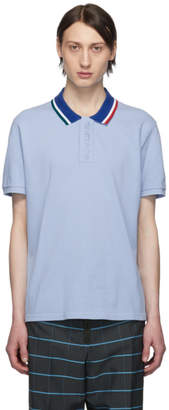 Kenzo Blue Fitted Colorblock Polo