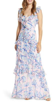 Lilly Pulitzer Riland Ruffle Maxi Dress