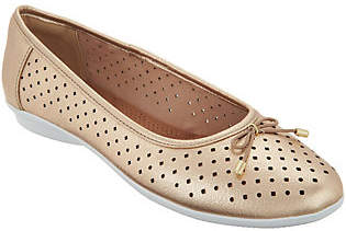 Clarks Perforated Leather Ballet Flats -Gracelin Lea