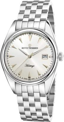 Revue Thommen Men's Heritage Wrist Watch, Dial With Band