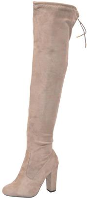 AL Boutique Light-Taupe Over-The-Knee Boot $59 thestylecure.com