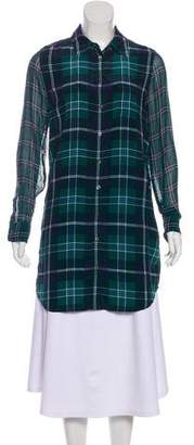 Equipment Plaid Shirt Dress