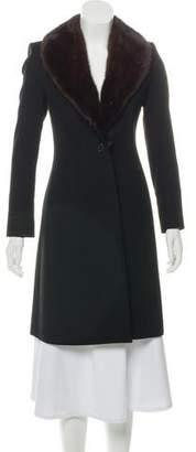 Derek Lam Fur-Trimmed Wool Coat