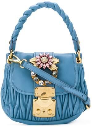 Miu Miu chevron pleated satchel