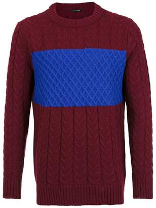 À La Garçonne panelled knit sweater