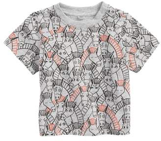 Stella McCartney Chuckle All Over Donkey Print Tee