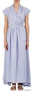 Thierry Colson Women's Isolde Striped Silk Wrap Dress - Light Gray