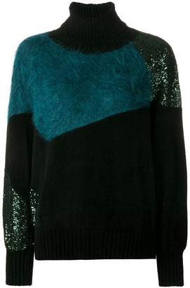Gianluca Capannolo sequin embellished turtleneck jumper