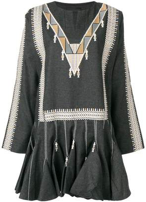 Diesel Black Gold embroidered flared dress