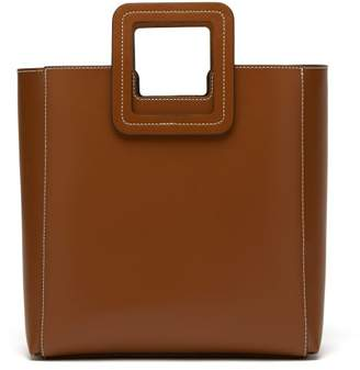 STAUD Shirley Structured Leather Tote Bag - Womens - Tan