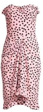 Escada Women's Polka Dot Strapless Dress - Light Pink - Size 38 (8)