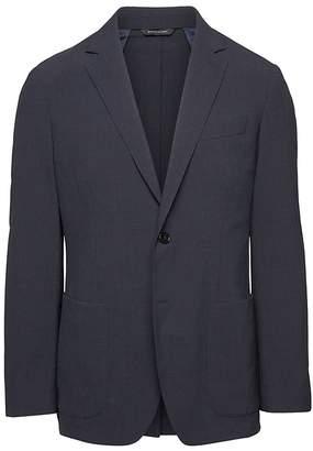 Banana Republic Standard Smart-Weight Performance Wool Blend Seersucker Suit Jacket