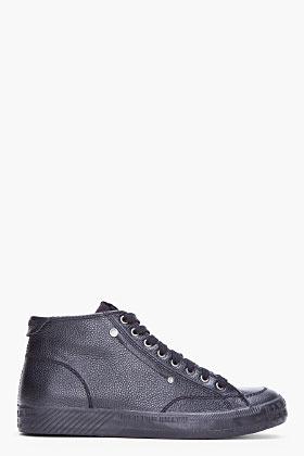 Diesel Black Leather D78 Sneakers