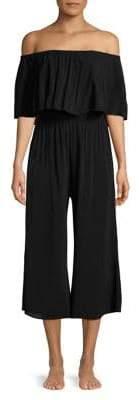 Elan International Ruffled Culotte Jumpsuit