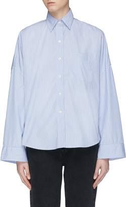 R 13 Oversized stripe high-low shirt