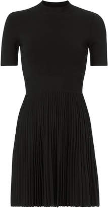 Alexander Wang Pleated Skirt Mini Dress Black S