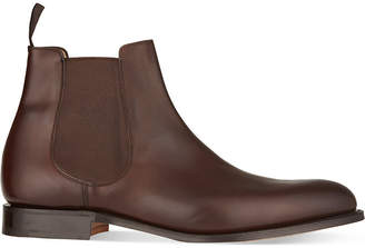 Church's Mens Dark Brown Houston Leather Chelsea Boots