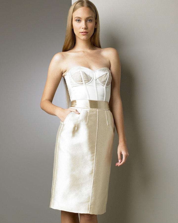 Dolce & Gabbana Strapless Bustier Dress