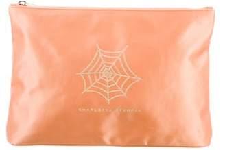 Charlotte Olympia Satin Cosmetic Bag