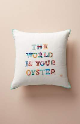 Anthropologie The World Is Your Oyster Accent Pillow