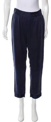 Calypso Silk Straight Leg Pants