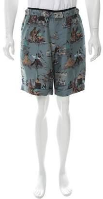 Valentino Silk Printed Shorts w/ Tags