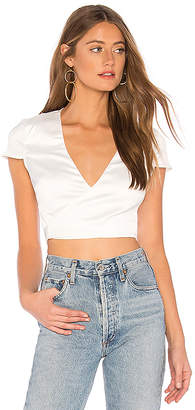 by the way. Thalia Satin Wrap Crop Top