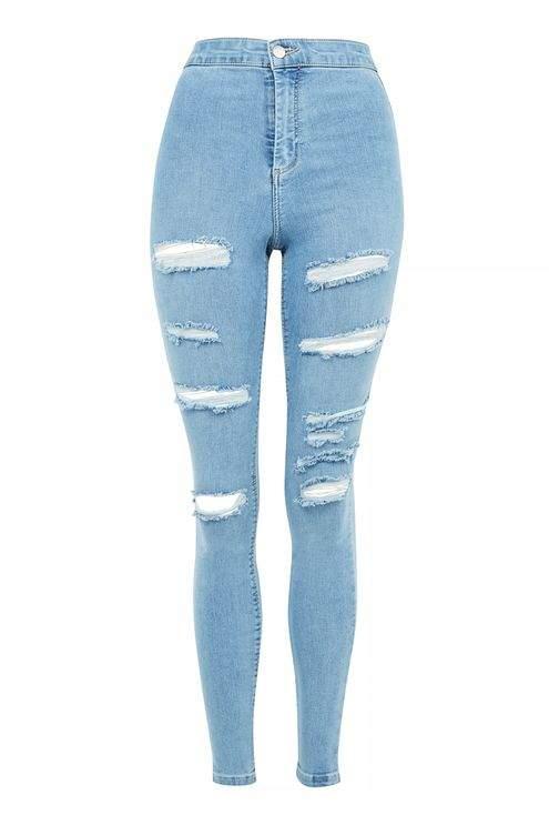 TopshopTopshop Moto bleach super rip joni jeans
