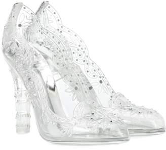 Dolce & Gabbana Cinderella embellished transparent pumps