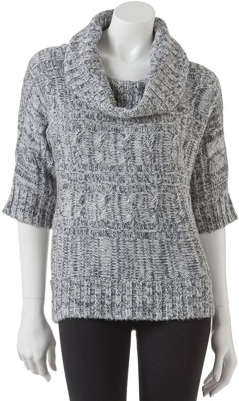It's Our Time lurex cable-knit cowlneck sweater - juniors