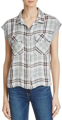 Bella Dahl Flap Pocket Plaid Crop Shirt $114 thestylecure.com