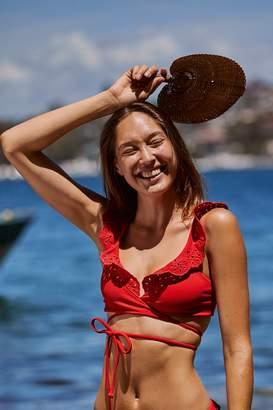 Beach Riot Ruffle Lauren Bikini Top