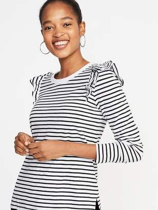 Old Navy Ruffle-Trim Slub-Knit Top for Women