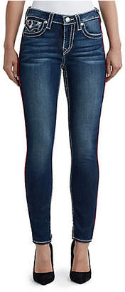 True Religion WOMENS BIG T PIPE CURVY SKINNY JEAN W/ FLAP