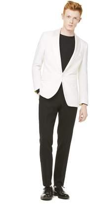 Todd Snyder Black Label Sutton Shawl Collar Tuxedo Jacket in Ivory Italian Wool