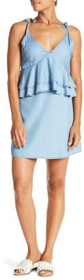 Do & Be Do + Be Ruffle Peplum Tie Strap Dress
