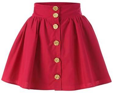 Flower Button Skirt