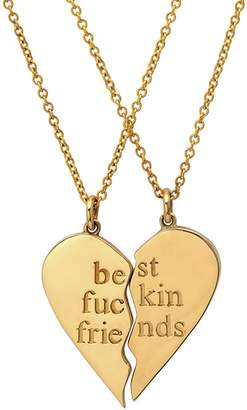 Established Best Fuckin Friends (2 Piece) Heart Necklaces