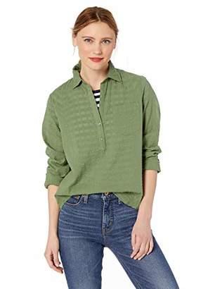 J.Crew Mercantile Women's Long-Sleeve Seersucker Popover Shirt