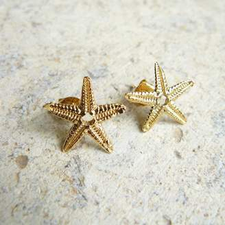 542a56507 Lime Tree Design Starfish Stud Earrings In Gold Vermeil