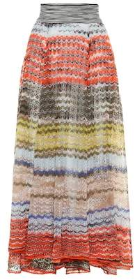 Missoni Striped wool-blend maxi skirt