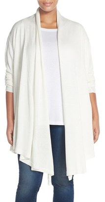 Plus Size Women's Melissa Mccarthy Seven7 Draped Flyaway Front Cardigan $129 thestylecure.com