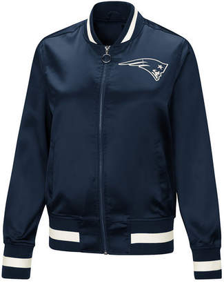 Touch by Alyssa Milano Women's New England Patriots Touch Satin Bomber Jacket