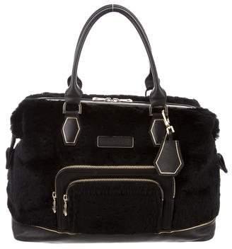 Longchamp Faux Fur Shoulder Bag