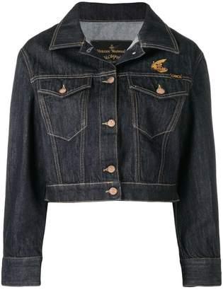 Vivienne Westwood logo cropped denim jacket